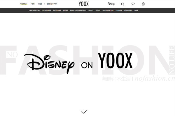 Disney上线首个在线商店 合作方为Yoox