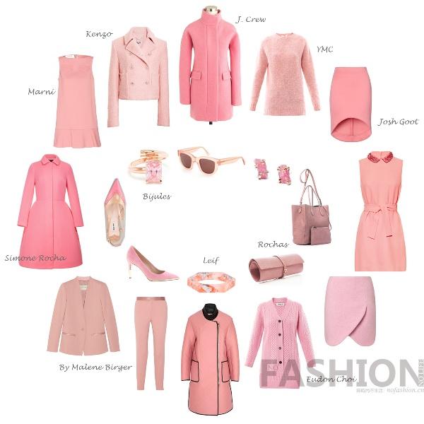 粉嫩过冬:冬季粉色单品推荐