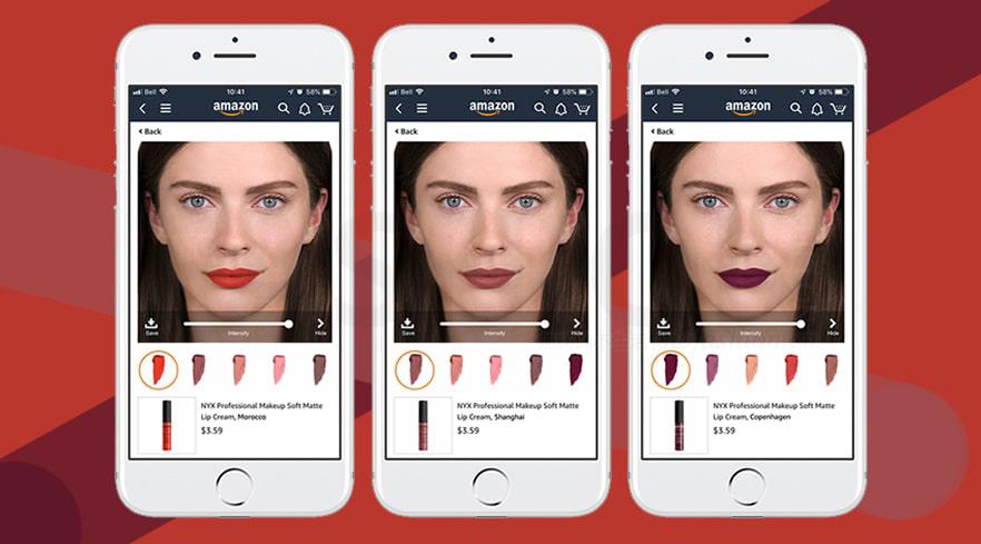 L'Oréal欧莱雅向Amazon亚马逊提供虚拟化妆技术
