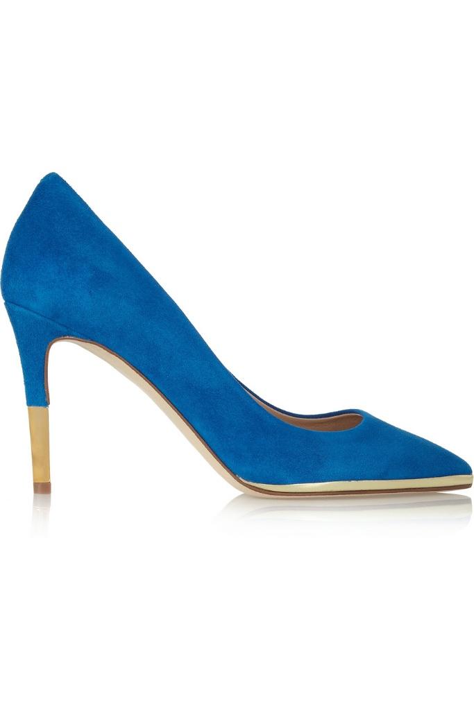 J.Crew蓝色3.5英寸高跟鞋