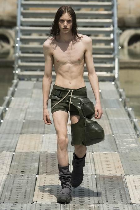 巴黎男装周Rick Owens Menswear Spring/Summer 2018春夏男装发布
