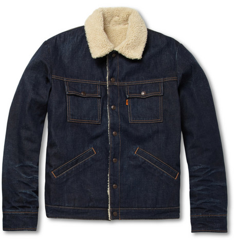 Levi's Vintage Clothing Slim-Fit Denim and Faux Shearling Jacket
