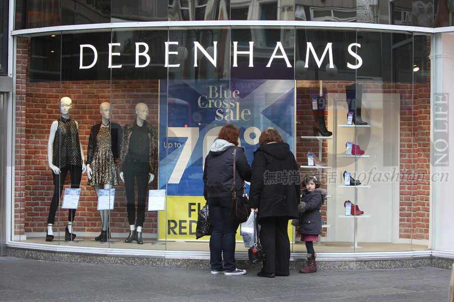 Debenhams三季度销售继续下滑