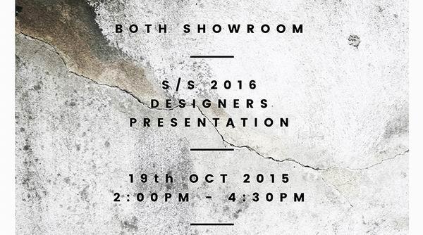 BOTH Showroom 2016春夏静态展及设计师分享会即将开幕