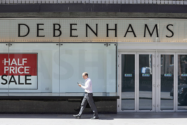 英国Debenhams百货进入破产托管 最大股东Mike Ashley 1.5亿英镑投资打水漂