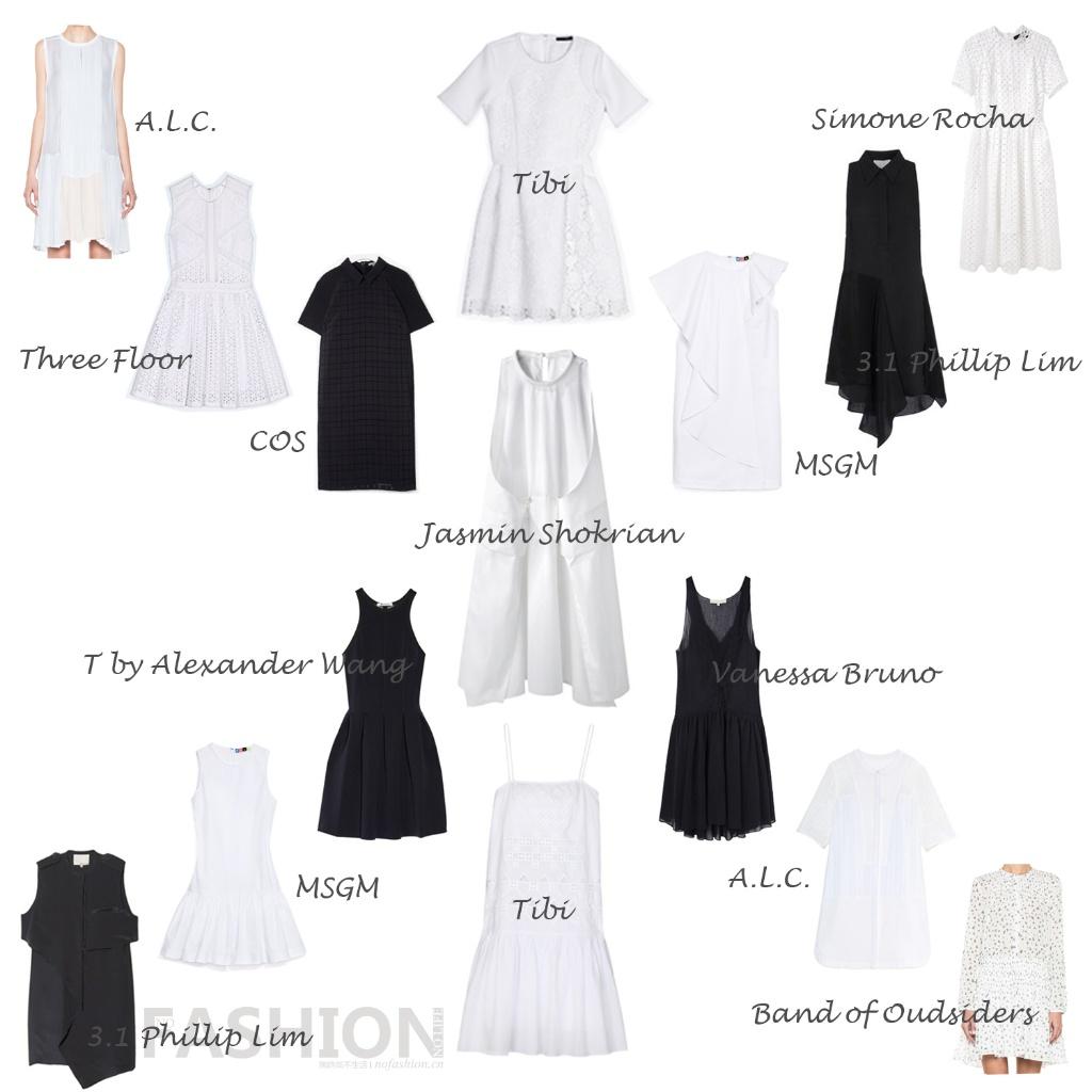 夏日必备连衣裙·第五波 小黑裙/小白裙