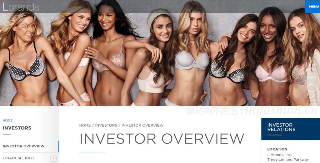 PINK销售继续下滑 Victoria's Secret维密母公司L Brands股价又狂跌 性感和中端价格定位左右为难