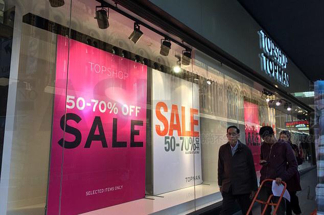 Topshop母公司Arcadia假日季前销售大幅下滑 英国高街市场表现垫底