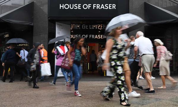 一句话声明 House of Fraser董事及高管团队遭新老板悉数解雇